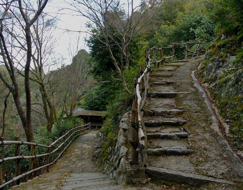 Just some of the many steps leading up to the Shrine